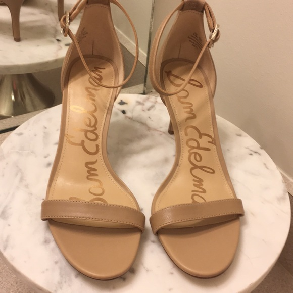 d1be971e8610 Sam Edelman Ankle Strap Patti Sandals-Nude color. M 5ac697fc00450fa09c8c578a
